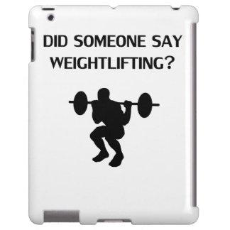 ¿Alguien dijo levantamiento de pesas? Funda Para iPad