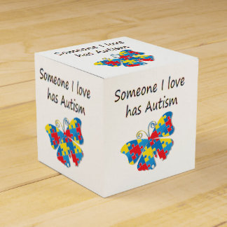 Alguien el amor de I tiene autismo (multi) Caja Para Regalo De Boda