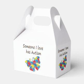 Alguien el amor de I tiene autismo (multi) Cajas Para Regalos De Boda