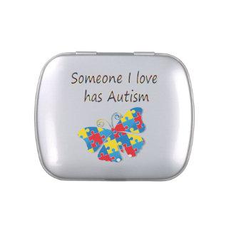 Alguien el amor de I tiene autismo (multi) Jarrones De Dulces