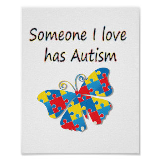 Alguien el amor de I tiene autismo (multi) Impresiones
