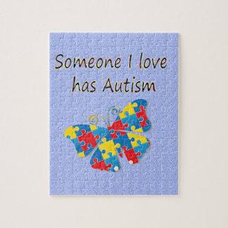 Alguien el amor de I tiene autismo (multi) Puzzle