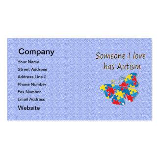 Alguien el amor de I tiene autismo (multi) Tarjetas De Visita