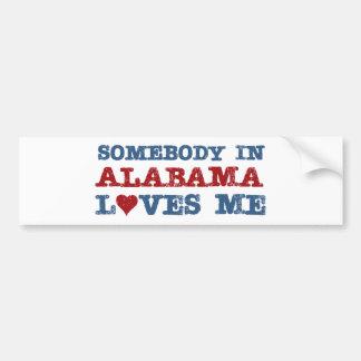 Alguien en Alabama me ama Etiqueta De Parachoque