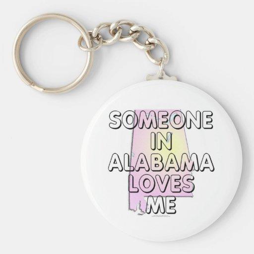 Alguien en Alabama me ama Llavero Personalizado