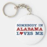 Alguien en Alabama me ama Llavero Redondo Tipo Pin