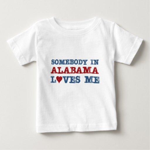 Alguien en Alabama me ama Playera Para Bebé