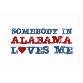 Alguien en Alabama me ama Tarjeta Postal