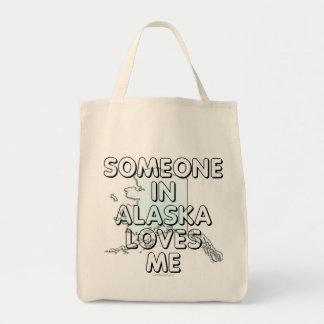 Alguien en Alaska me ama Bolsa Tela Para La Compra