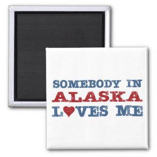 Alguien en Alaska me ama Imán Cuadrado