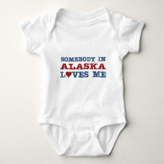 Alguien en Alaska me ama Mameluco De Bebé