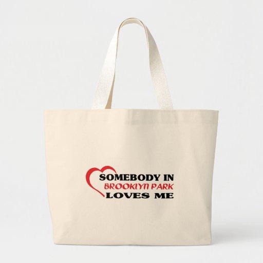 Alguien en   amores yo camiseta bolsa tela grande
