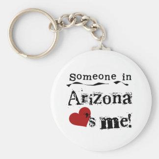 Alguien en Arizona me ama Llavero Redondo Tipo Pin