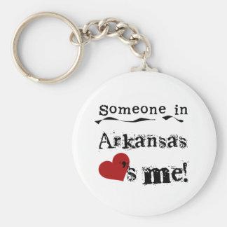Alguien en Arkansas me ama Llavero Redondo Tipo Pin