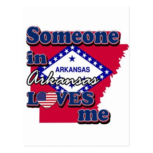 Alguien en Arkansas me ama Postal