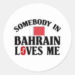Alguien en Bahrein me ama Etiquetas Redondas