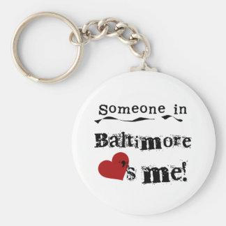 Alguien en Baltimore Llaveros Personalizados