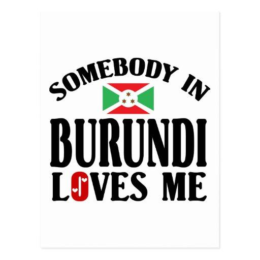 Alguien en Burundi me ama Postales