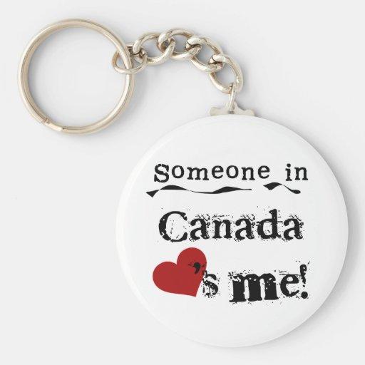 Alguien en Canadá me ama Llaveros