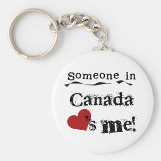 Alguien en Canadá me ama Llavero Redondo Tipo Pin