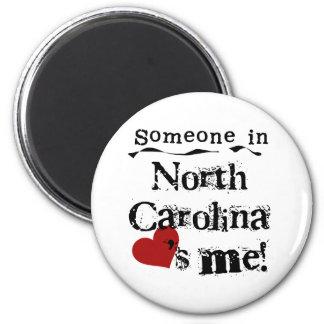 Alguien en Carolina del Norte me ama Imán Redondo 5 Cm