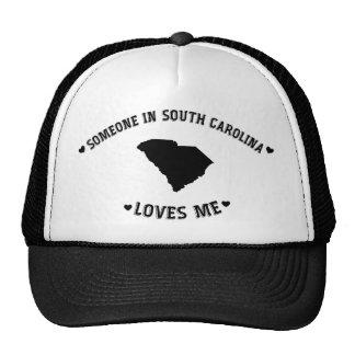 Alguien en Carolina del Sur me ama Gorros Bordados