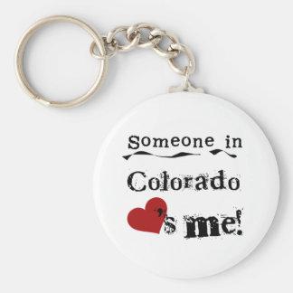 Alguien en Colorado me ama Llavero Redondo Tipo Pin