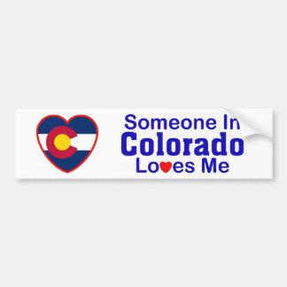 Alguien en Colorado me ama Pegatina Para Auto