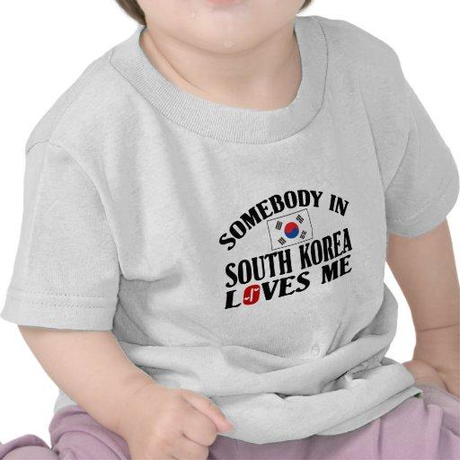 Alguien en Corea del Sur me ama Camisetas