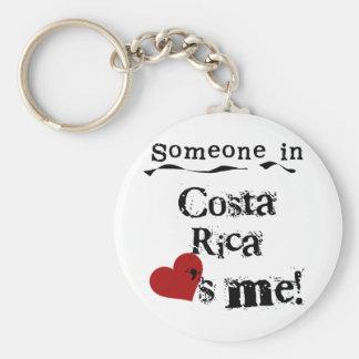 Alguien en Costa Rica me ama Llavero Redondo Tipo Pin