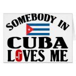 Alguien en Cuba Tarjeton