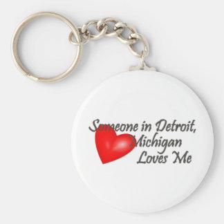 Alguien en Detroit me ama Llavero