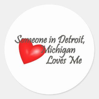 Alguien en Detroit me ama Pegatinas