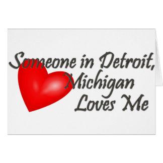 Alguien en Detroit me ama Tarjetas
