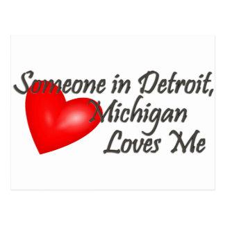 Alguien en Detroit me ama Postal