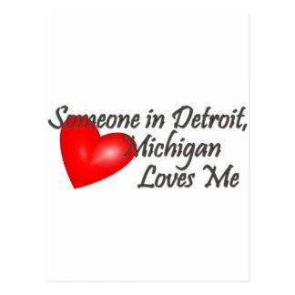 Alguien en Detroit me ama Tarjetas Postales