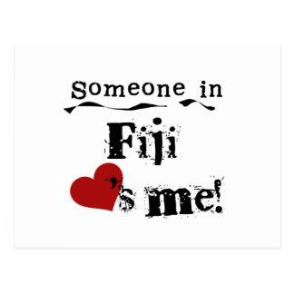 Alguien en Fiji me ama Postal
