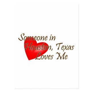 Alguien en Houston me ama Postal