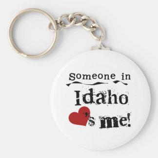 Alguien en Idaho me ama Llavero Redondo Tipo Pin