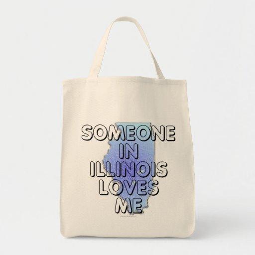 Alguien en Illinois me ama Bolsa Tela Para La Compra