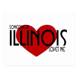 Alguien en Illinois me ama Tarjetas Postales