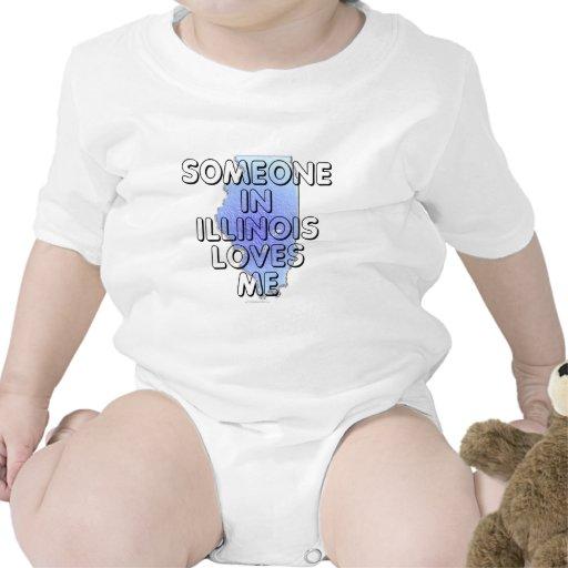Alguien en Illinois me ama Trajes De Bebé