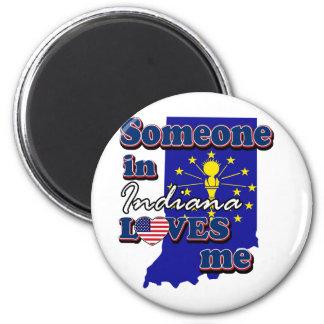 Alguien en Indiana me ama Imán Redondo 5 Cm