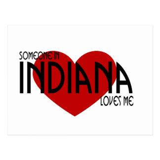 Alguien en Indiana me ama Tarjeta Postal