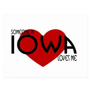 Alguien en Iowa me ama Postales