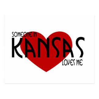 Alguien en Kansas me ama Postal