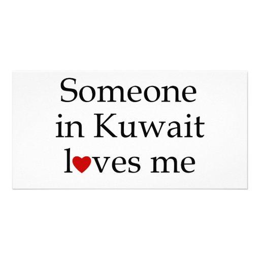 Alguien en Kuwait me ama Tarjeta Fotografica
