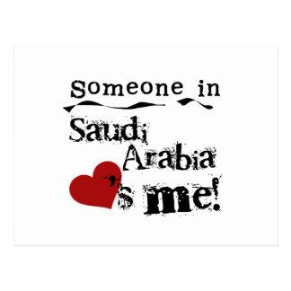 Alguien en la Arabia Saudita me ama Tarjeta Postal