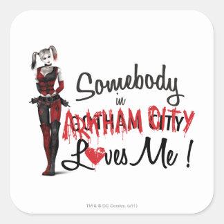 Alguien en la CA me ama - Harley Pegatina Cuadrada