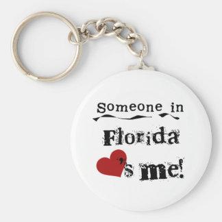 Alguien en la Florida me ama Llavero Redondo Tipo Pin